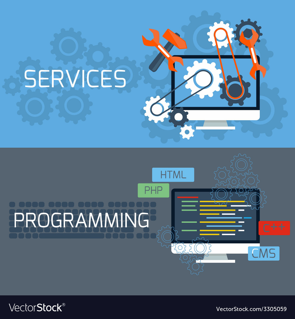 Concept for services and programming vector | Price: 1 Credit (USD $1)