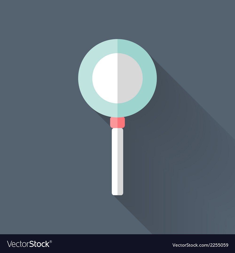 Flat loupe icon over blue vector | Price: 1 Credit (USD $1)
