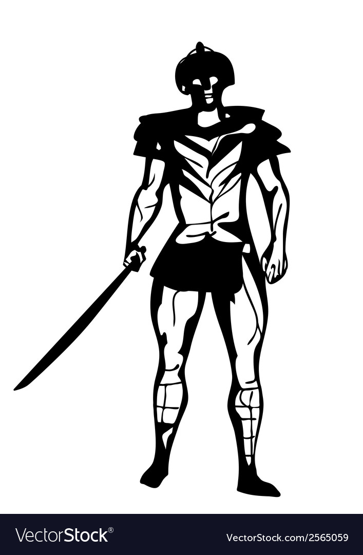 Gladiator vector | Price: 1 Credit (USD $1)