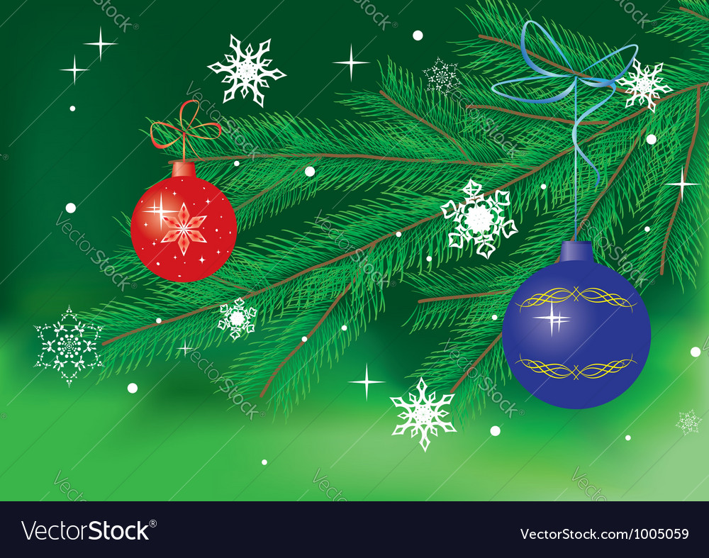 Green card with christmas decor vector | Price: 1 Credit (USD $1)