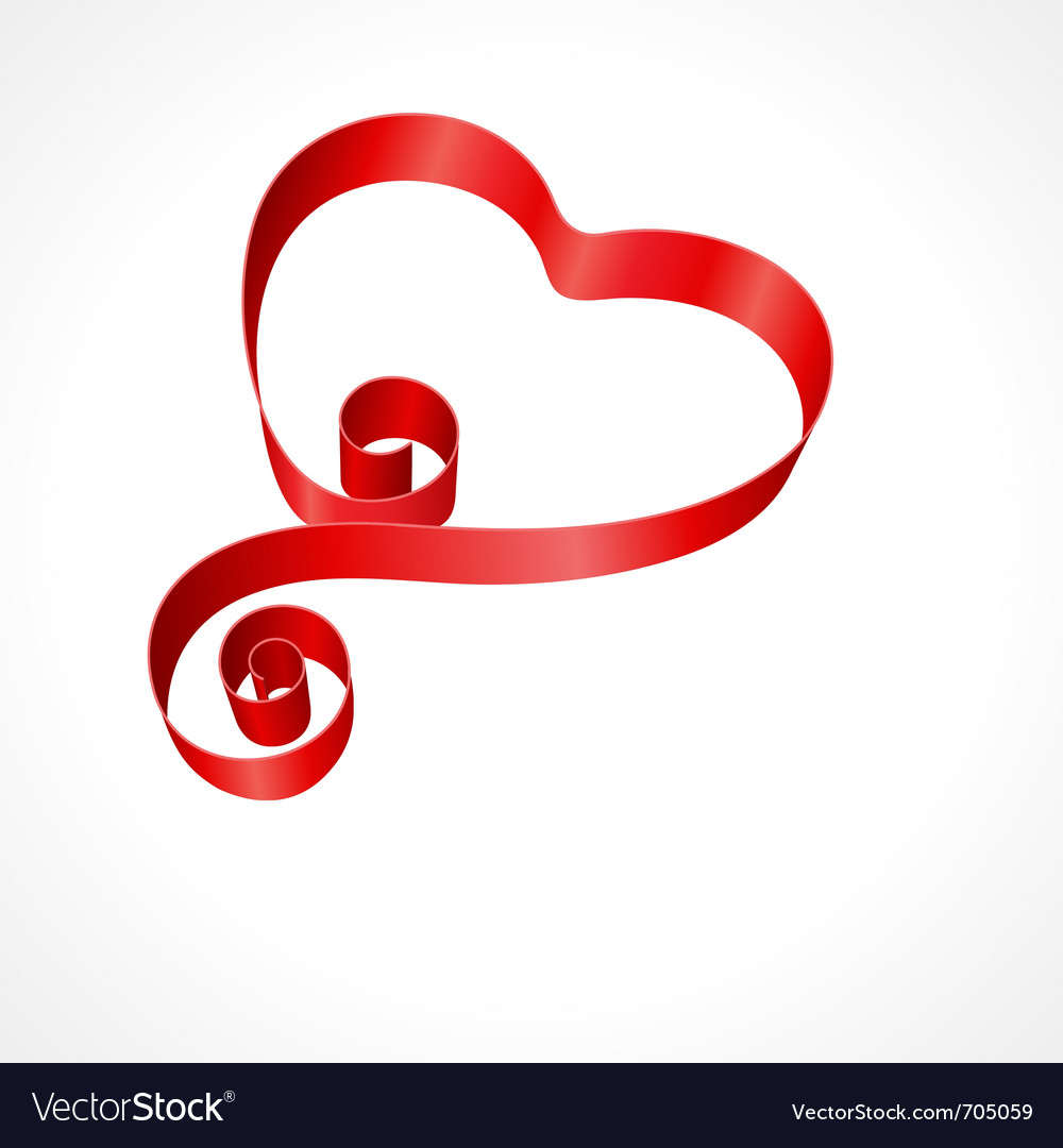 Heart from red silk ribbon vector | Price: 1 Credit (USD $1)