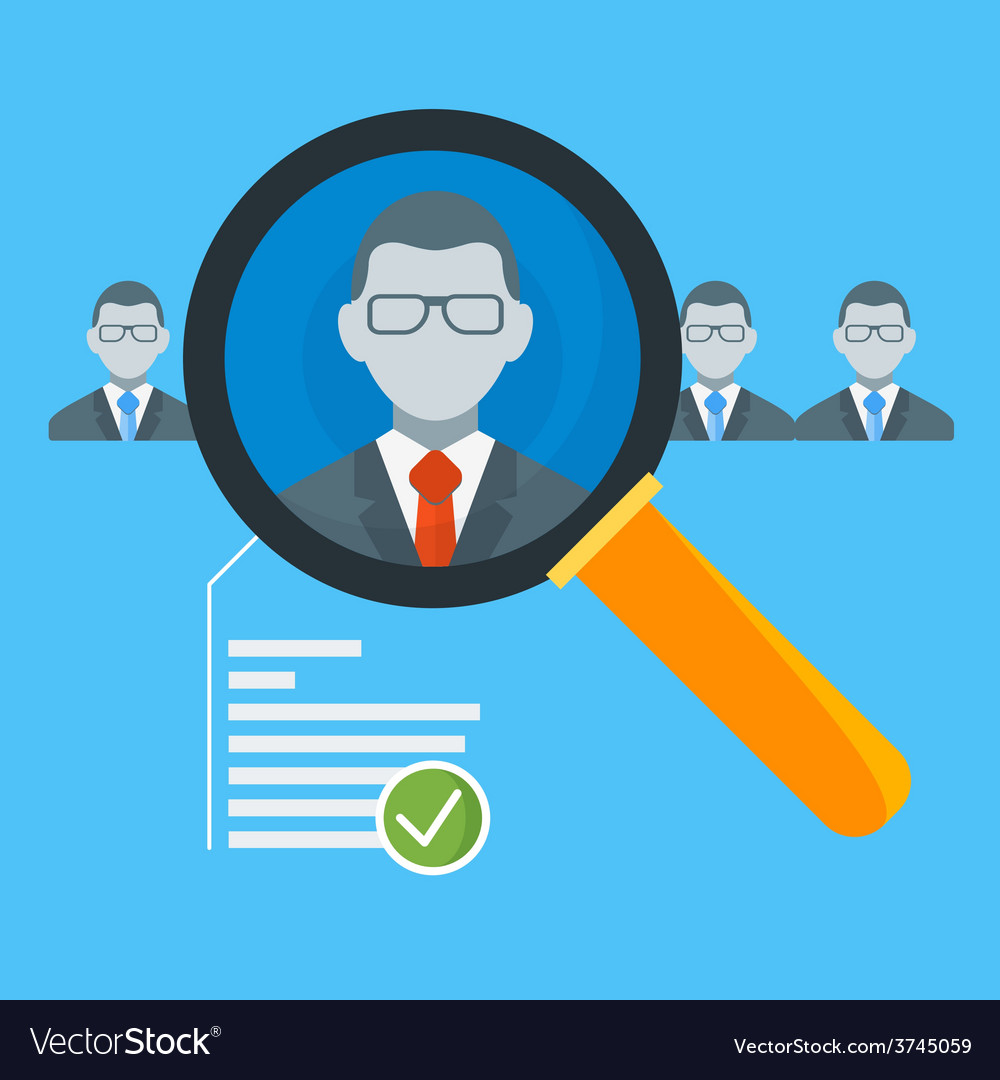 Hiring process concept with candidate selection vector | Price: 1 Credit (USD $1)