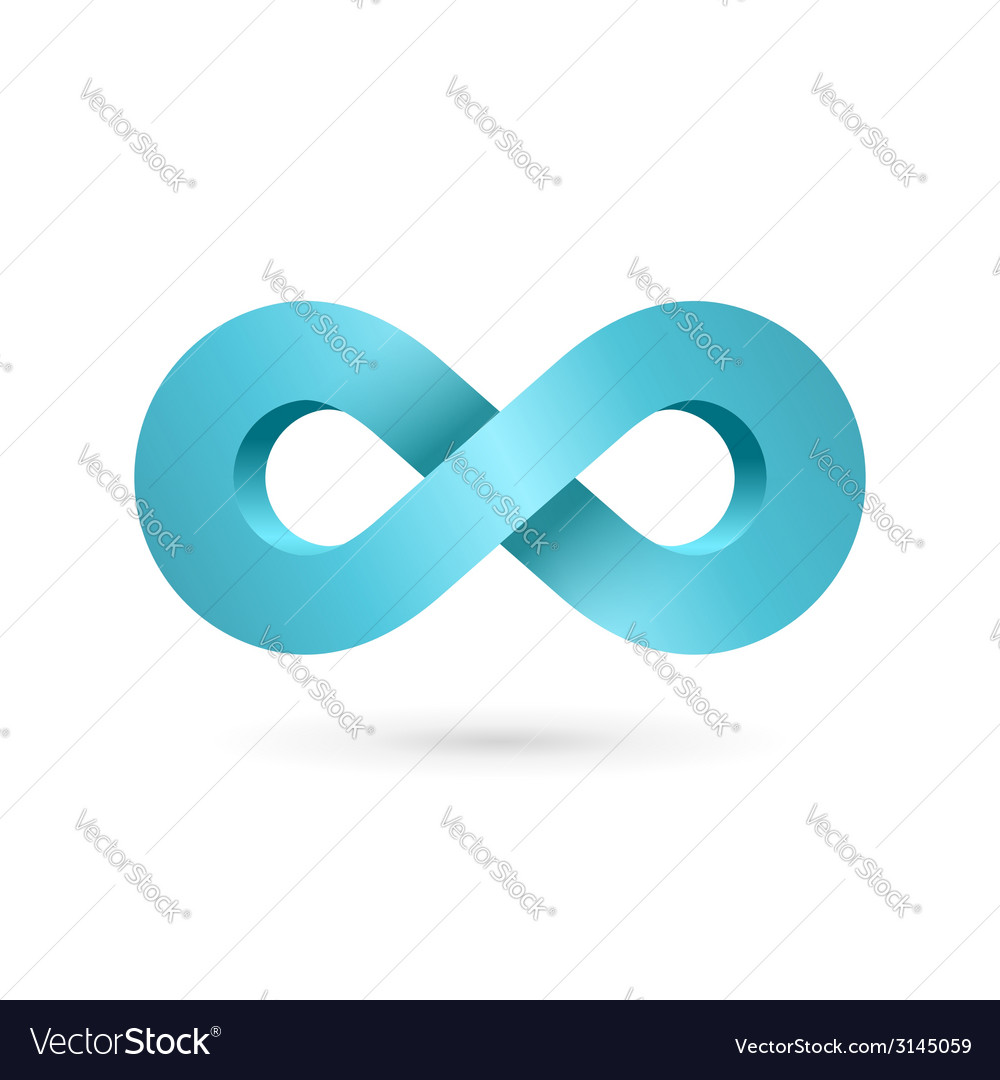 Infinity loop symbol logo icon design template vector | Price: 1 Credit (USD $1)