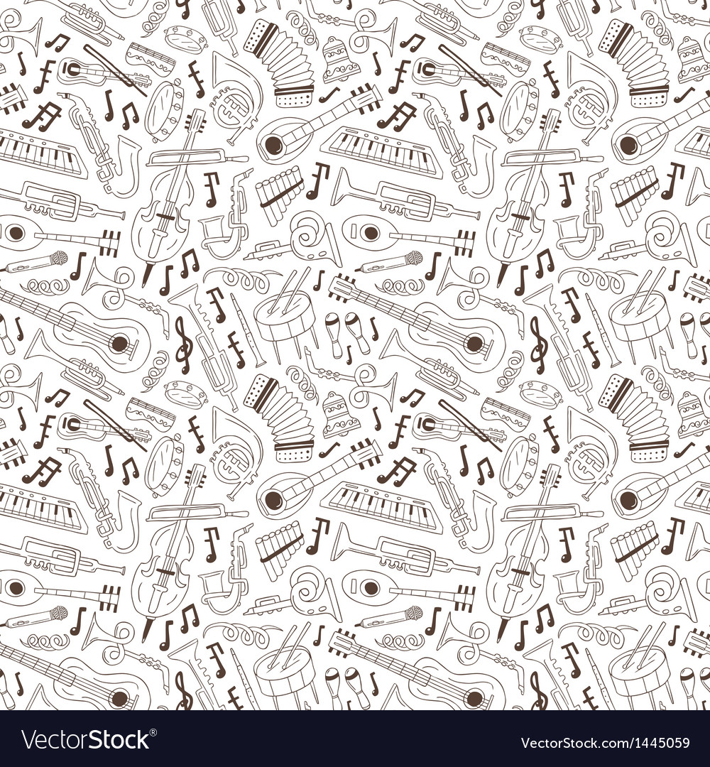 Jazz - seamless background vector | Price: 1 Credit (USD $1)