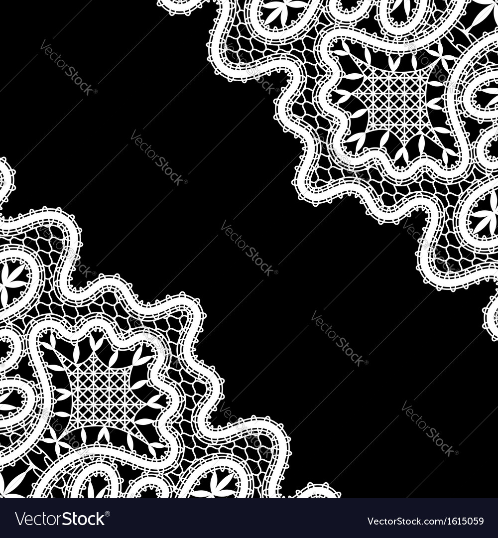 Lace corners on black vector | Price: 1 Credit (USD $1)