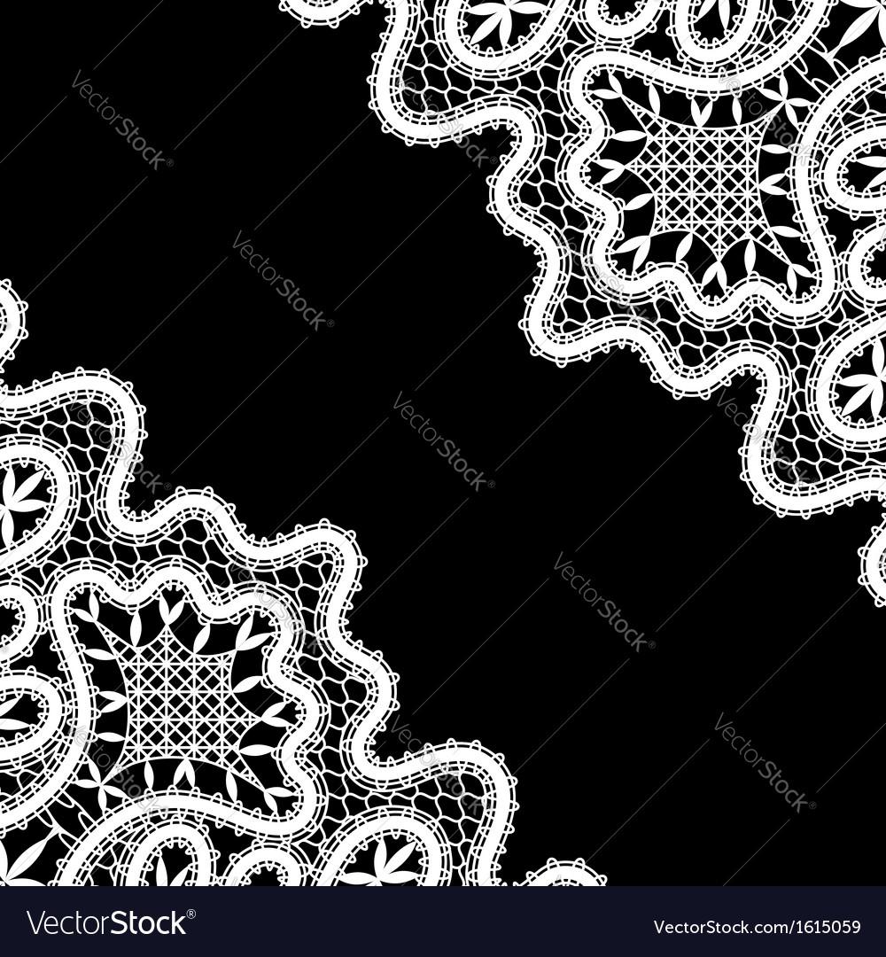 Lace corners on black vector   Price: 1 Credit (USD $1)