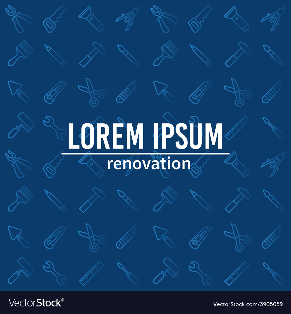 Linear renovation tools vector | Price: 1 Credit (USD $1)