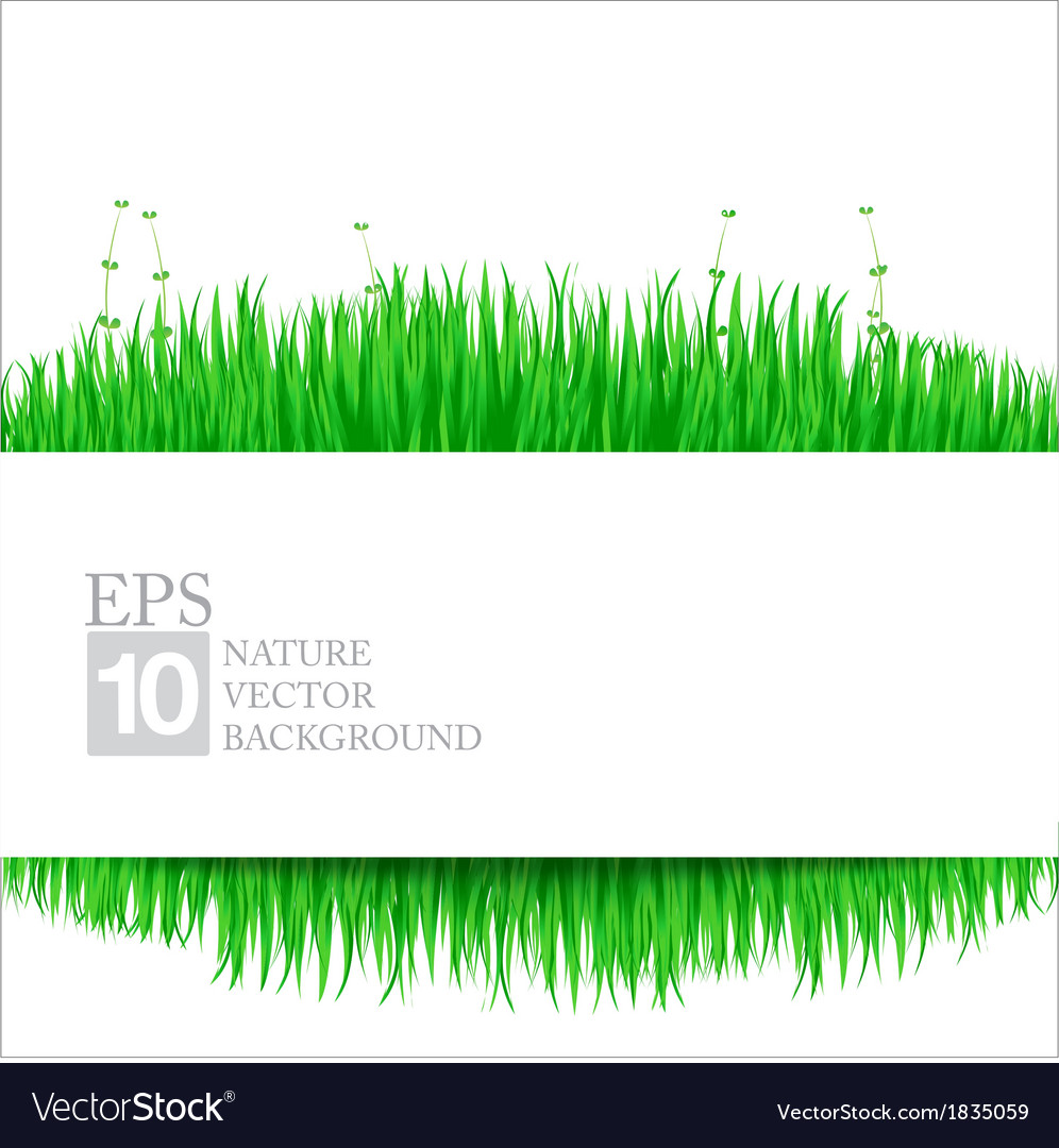 Nature background with green grass 02 380x400 vector | Price: 1 Credit (USD $1)