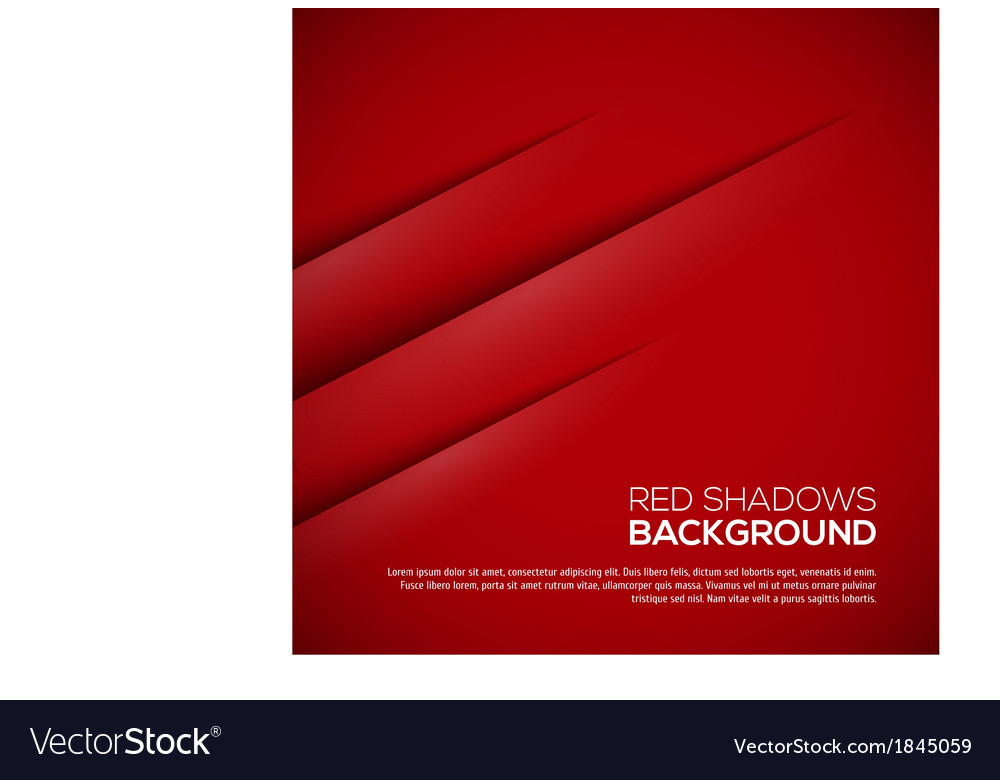 Red background with realistic shadows vector | Price: 1 Credit (USD $1)