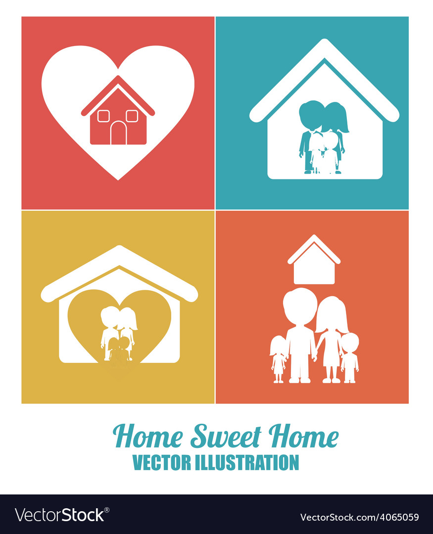 Sweet home design vector | Price: 1 Credit (USD $1)