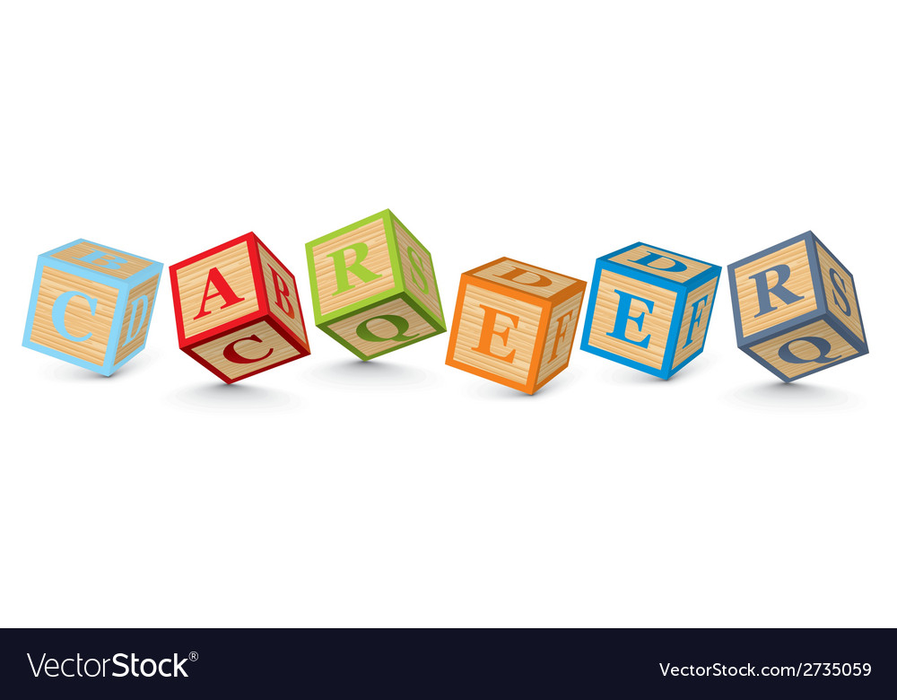 Word career written with alphabet blocks vector | Price: 1 Credit (USD $1)