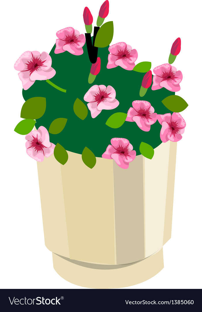 A view of flowers vector | Price: 1 Credit (USD $1)