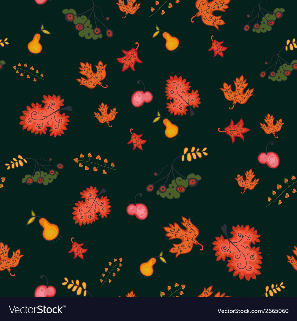 Autumn seamless background vector | Price: 1 Credit (USD $1)
