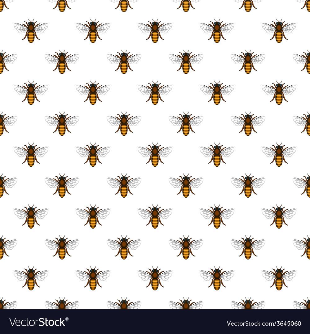 Bee pattern vector | Price: 1 Credit (USD $1)