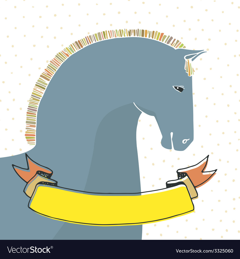Card with horse vector   Price: 1 Credit (USD $1)