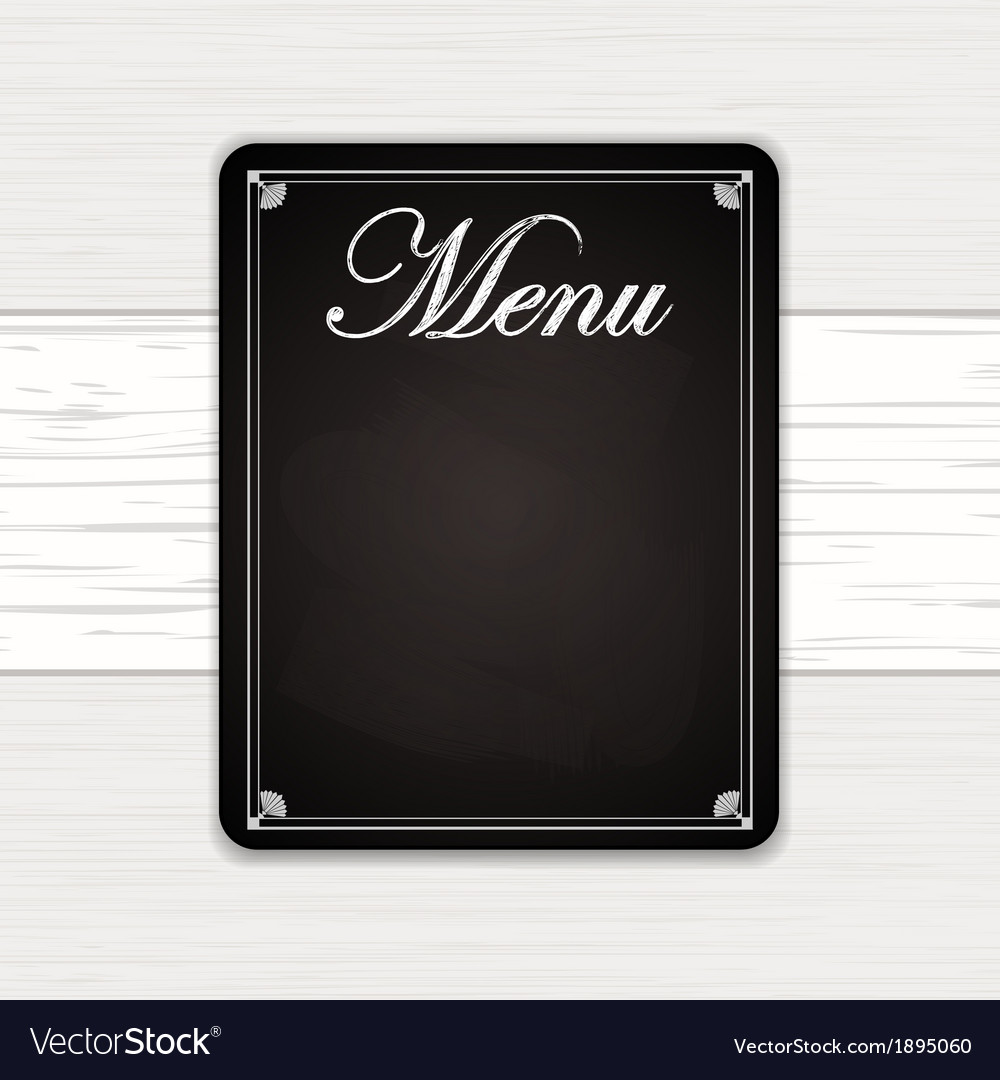 Chalk board on white wood vector | Price: 1 Credit (USD $1)