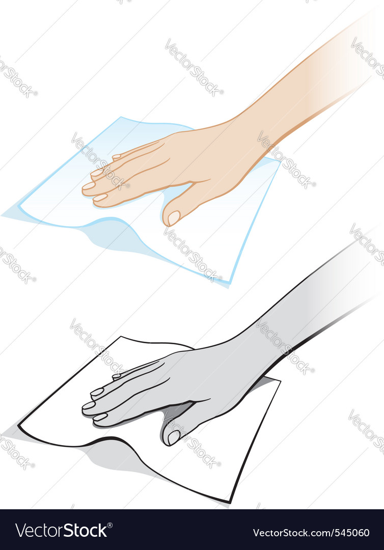 Cleaning cloth vector | Price: 1 Credit (USD $1)
