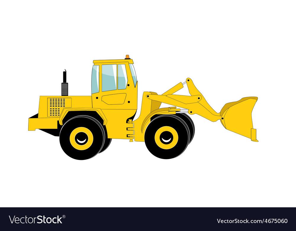Excavator work isolated vector | Price: 1 Credit (USD $1)