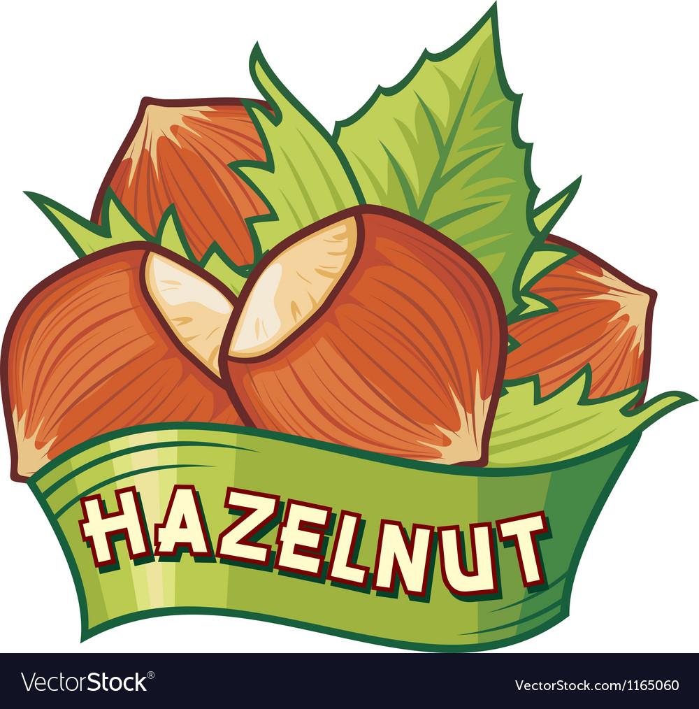 Hazelnut label vector | Price: 1 Credit (USD $1)
