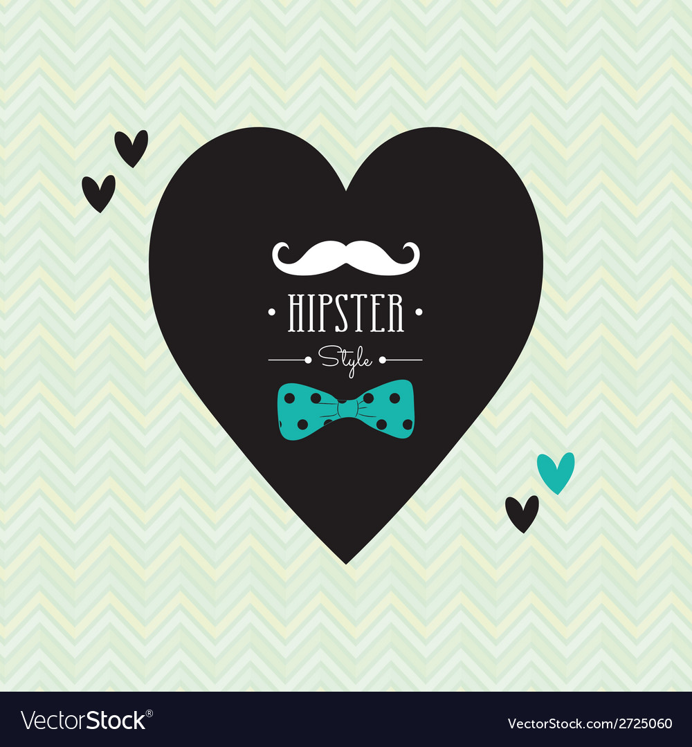 Love hipster style postcard design vector | Price: 1 Credit (USD $1)