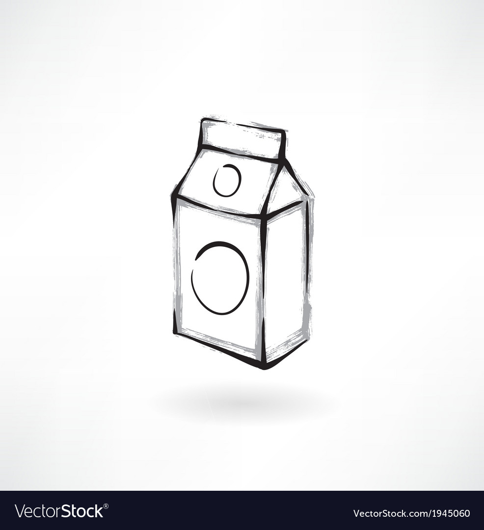 Milk grunge icon vector | Price: 1 Credit (USD $1)