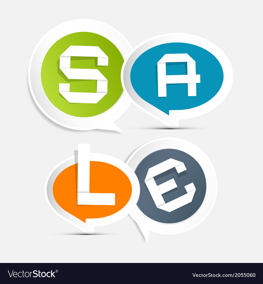Sale circle colorful stickers - labels on light vector | Price: 1 Credit (USD $1)