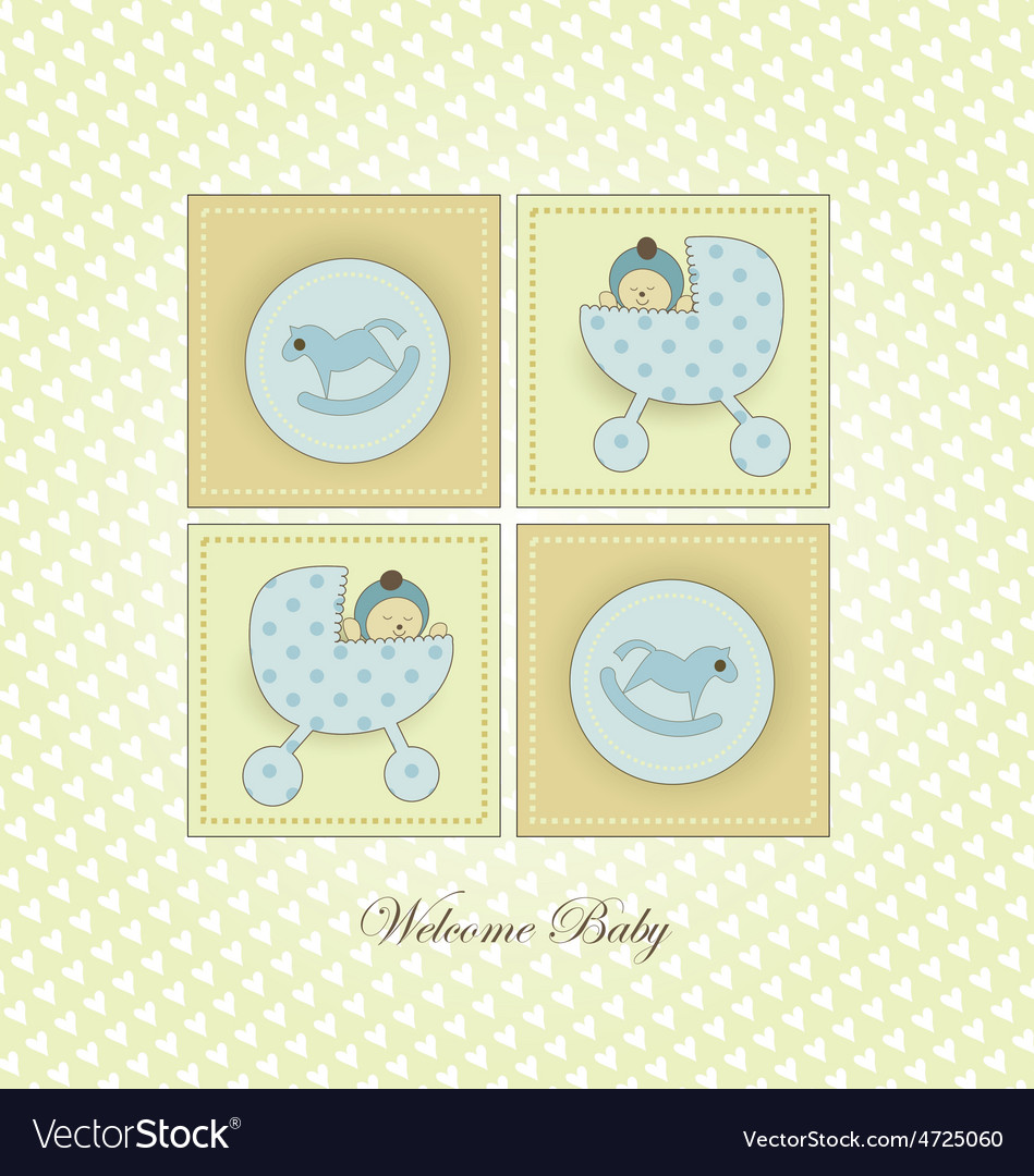 Sweet welcome baby card vector | Price: 1 Credit (USD $1)