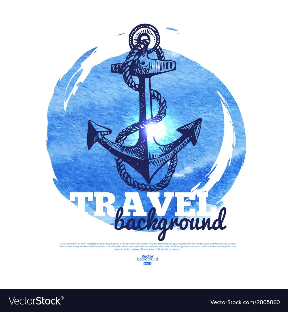 Travel vintage banner vector | Price: 1 Credit (USD $1)