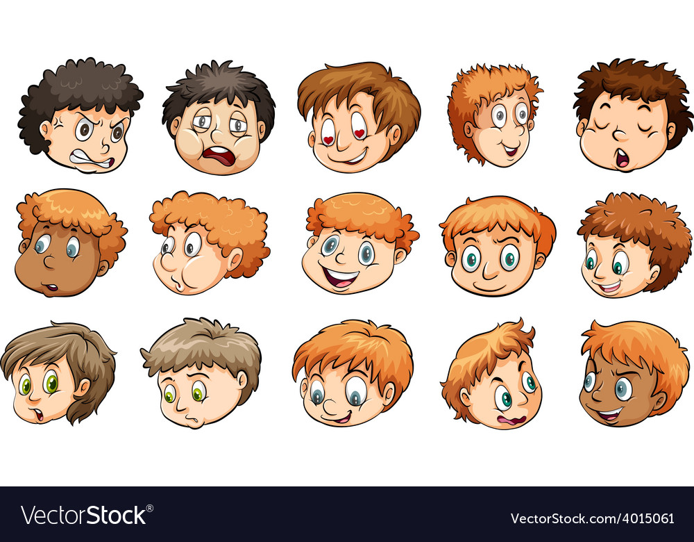 A group of heads vector | Price: 3 Credit (USD $3)