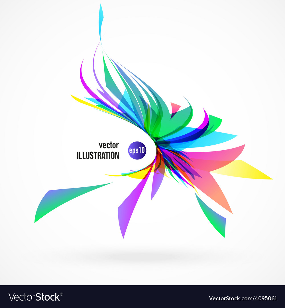 Abstract background of colorful fragments vector | Price: 1 Credit (USD $1)