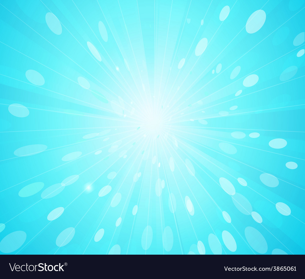Blue sunny rays background vector | Price: 1 Credit (USD $1)
