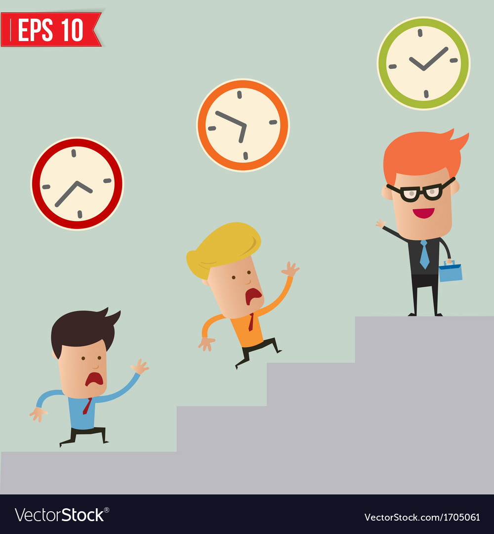 Business man and time management concept - vector | Price: 1 Credit (USD $1)