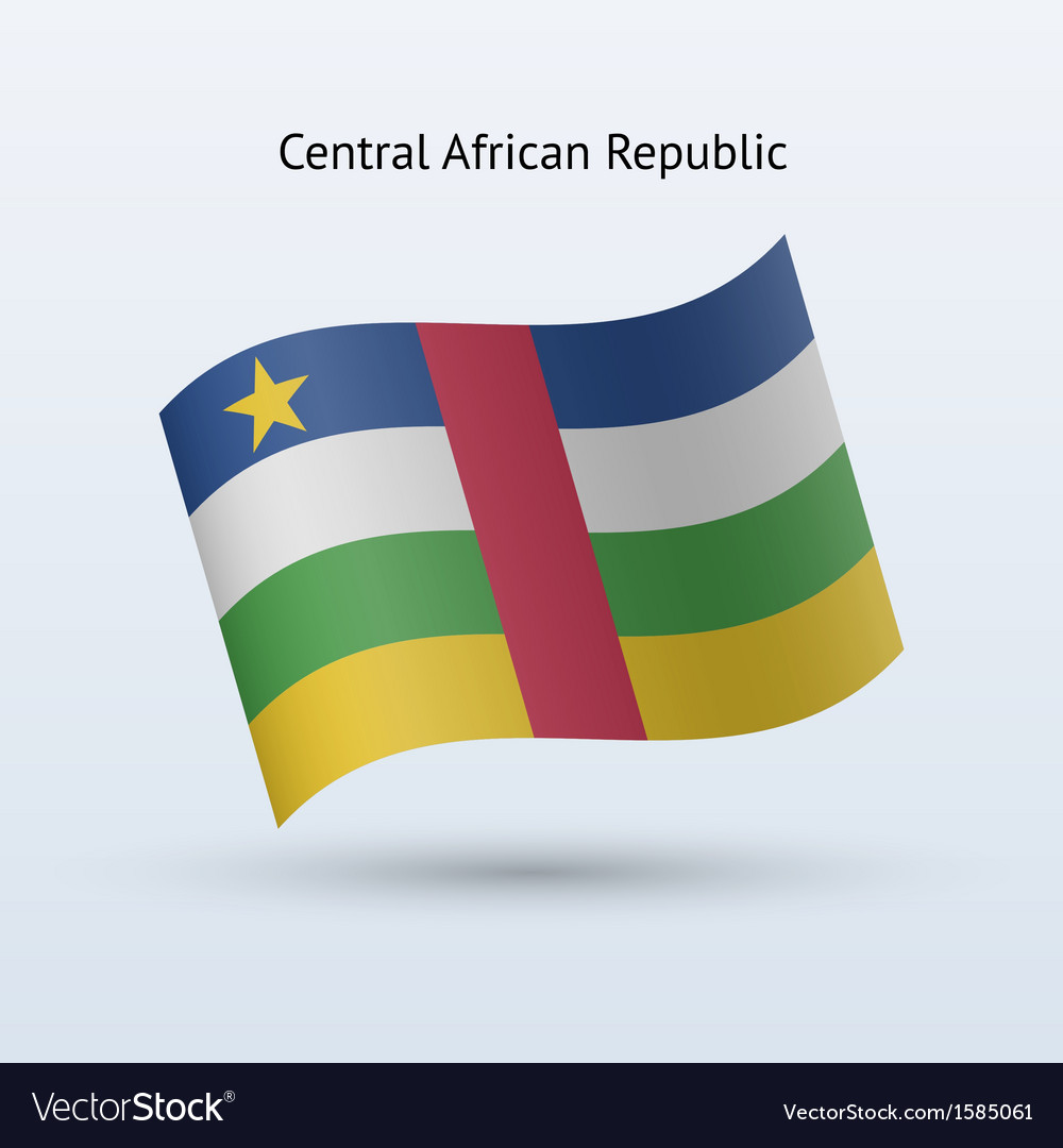 Central african republic flag waving form vector | Price: 1 Credit (USD $1)