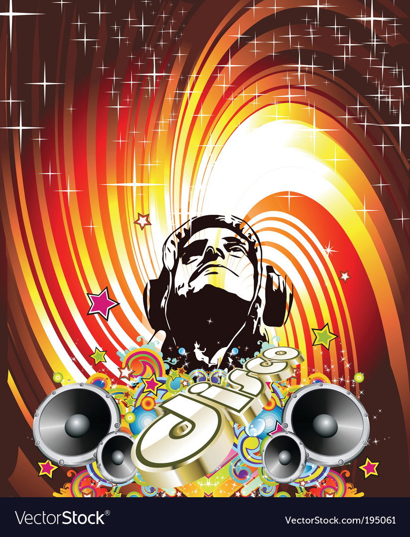 Disco dance background vector | Price: 3 Credit (USD $3)