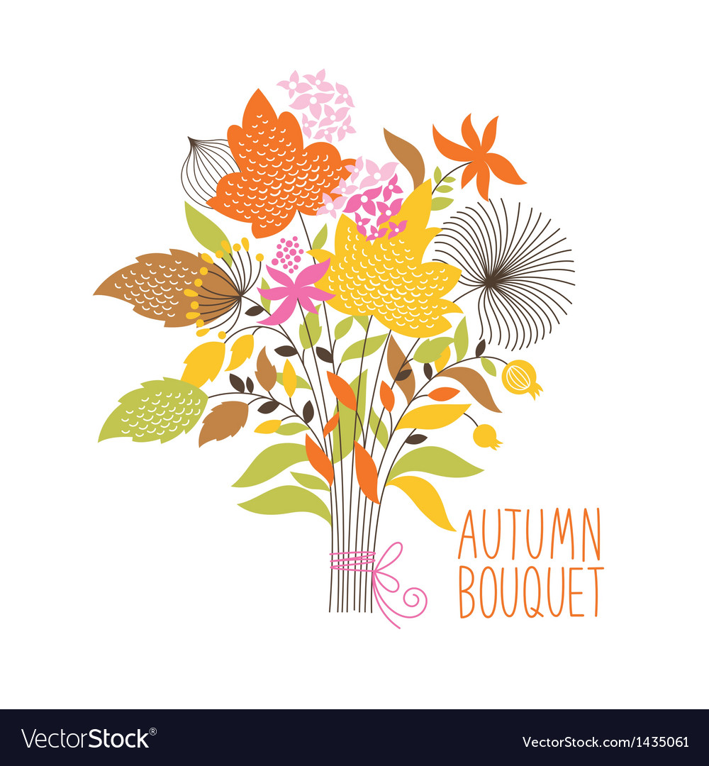 Floral autumn bouquet vector | Price: 3 Credit (USD $3)