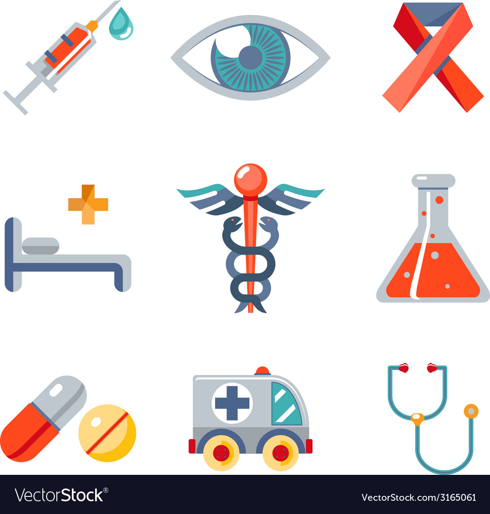 Health and medical icons set vector | Price: 1 Credit (USD $1)