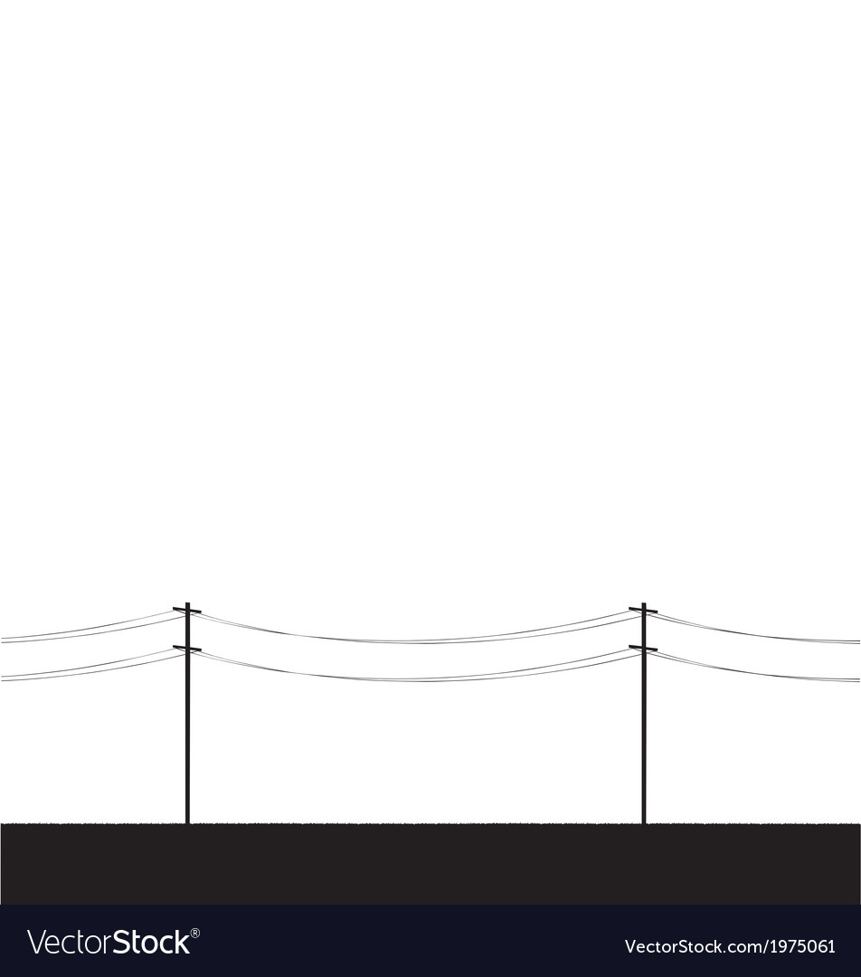 Telegraph poles vector | Price: 1 Credit (USD $1)