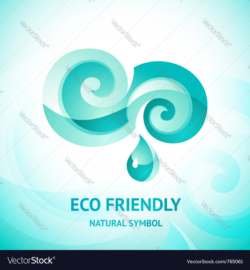 Turquoise water symbol vector | Price: 1 Credit (USD $1)
