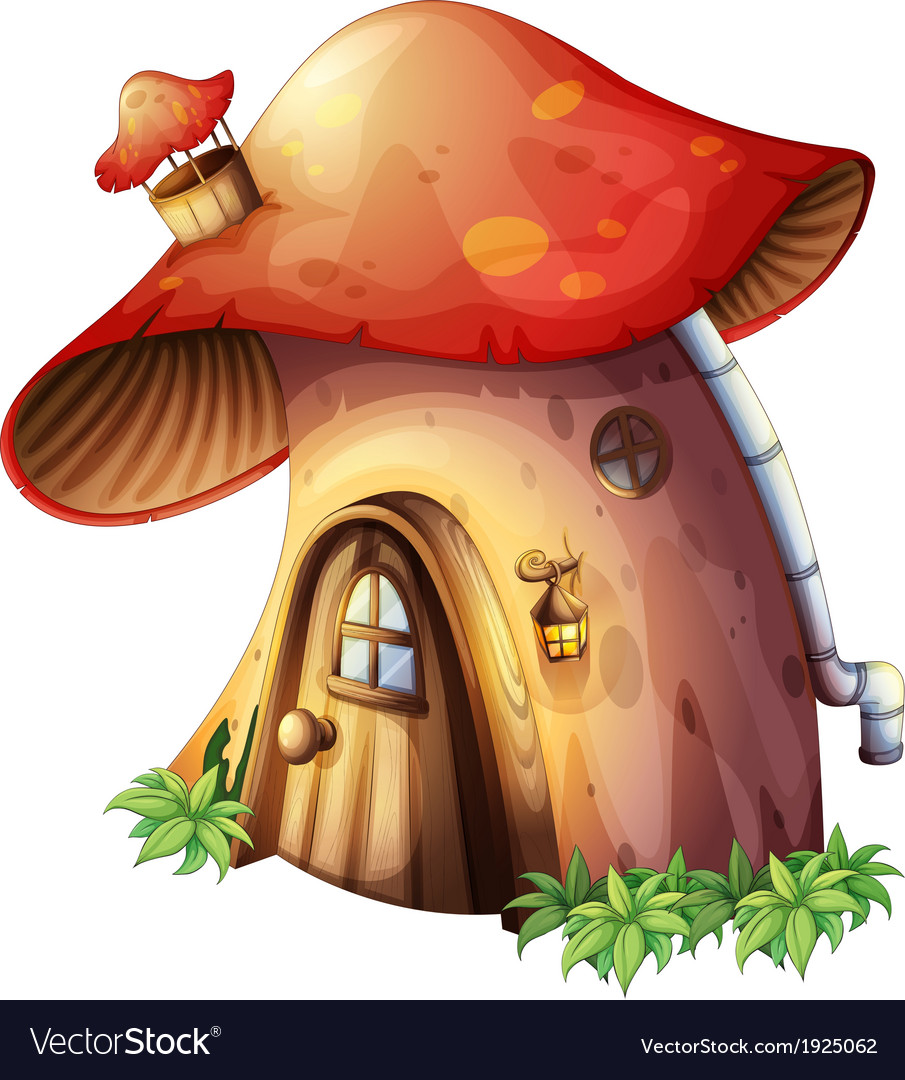 A mushroom house vector | Price: 3 Credit (USD $3)