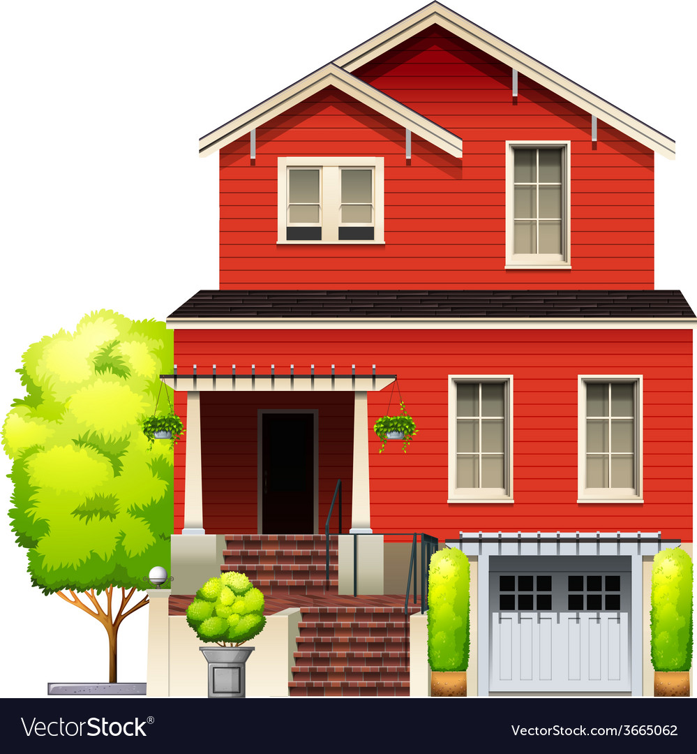 An orange building vector | Price: 3 Credit (USD $3)