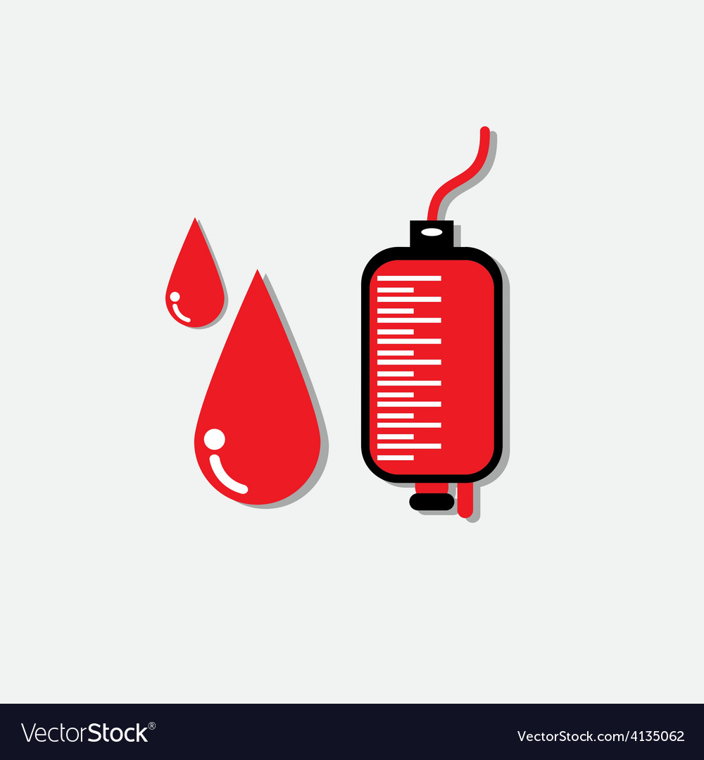 Blood donation medicine help hospital save life he vector   Price: 1 Credit (USD $1)