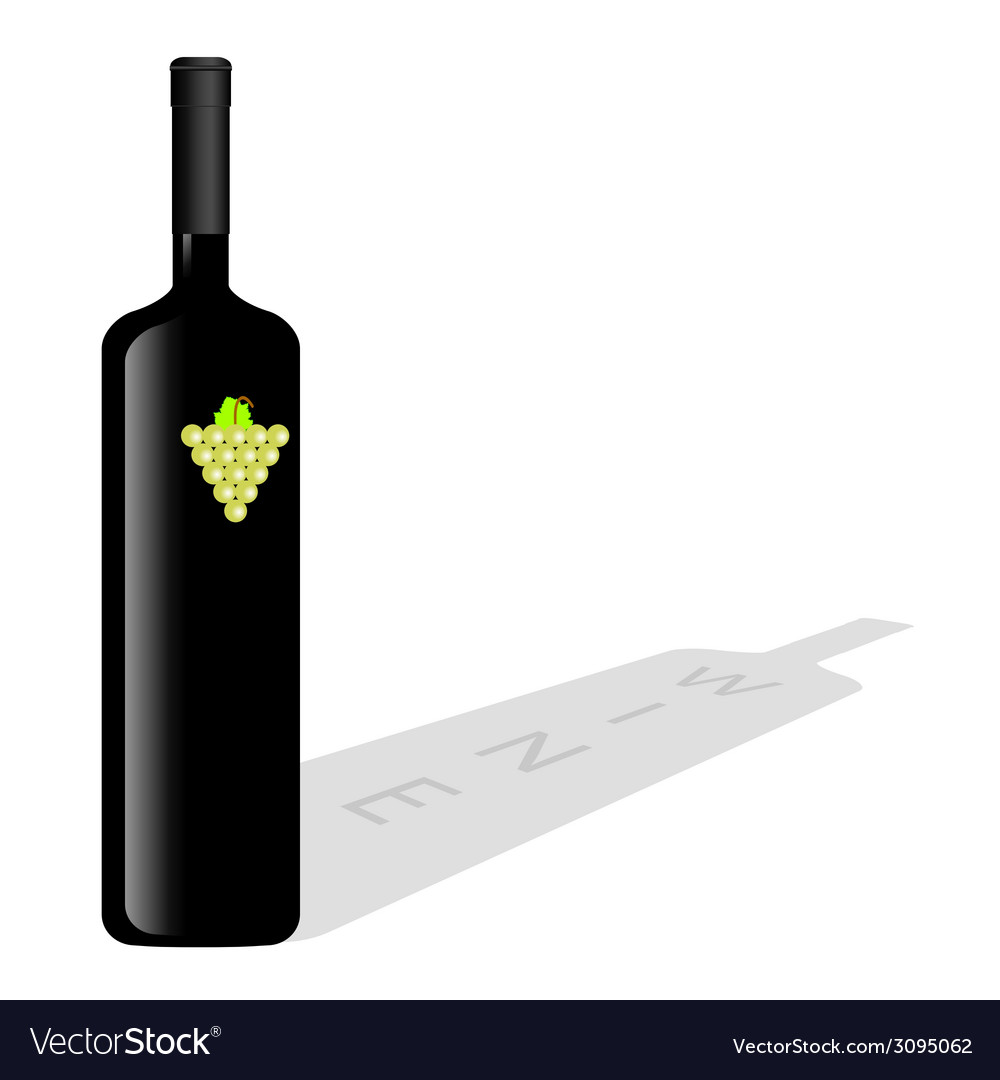 Bottle of wine vector | Price: 1 Credit (USD $1)