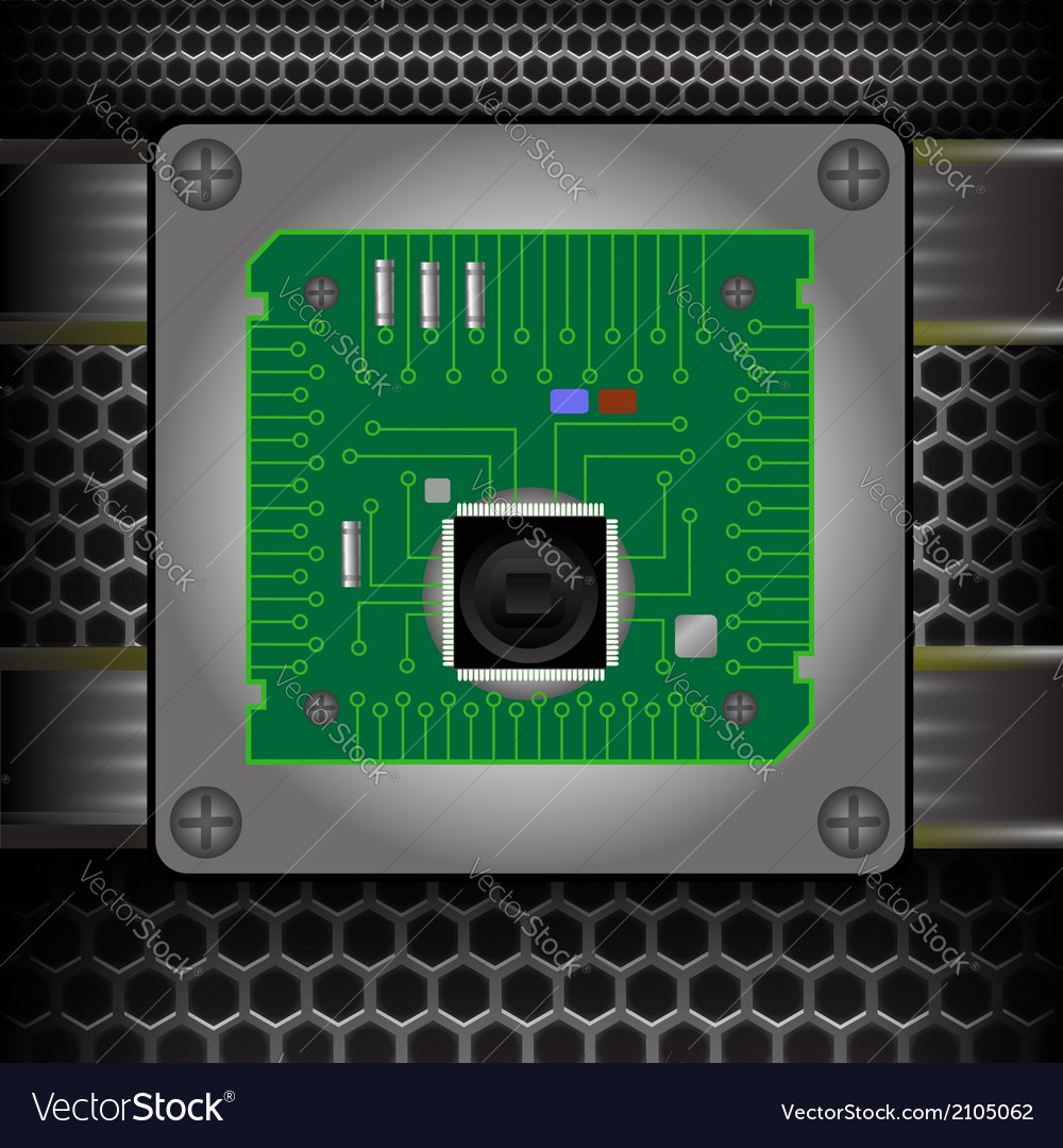Cpu on the motherboard vector | Price: 1 Credit (USD $1)