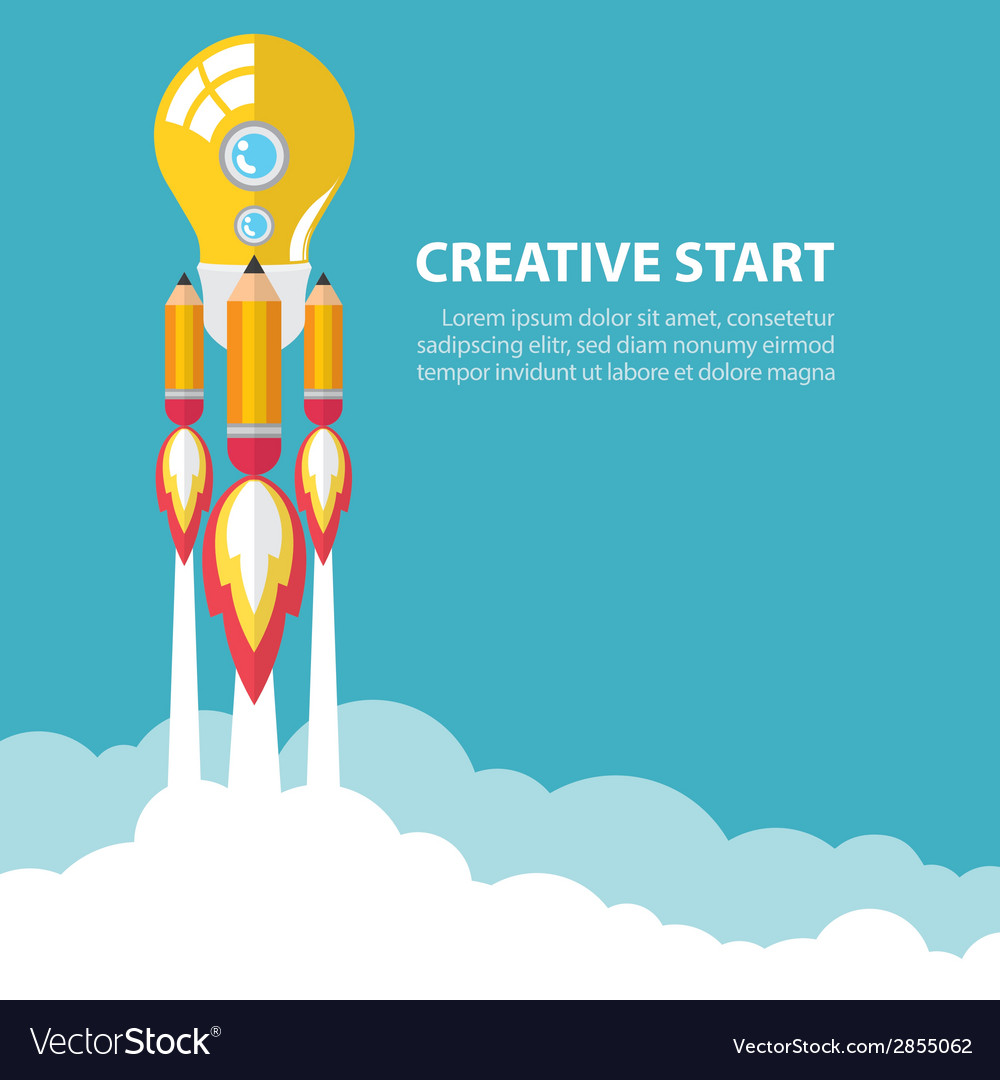 Creative start up vector | Price: 1 Credit (USD $1)
