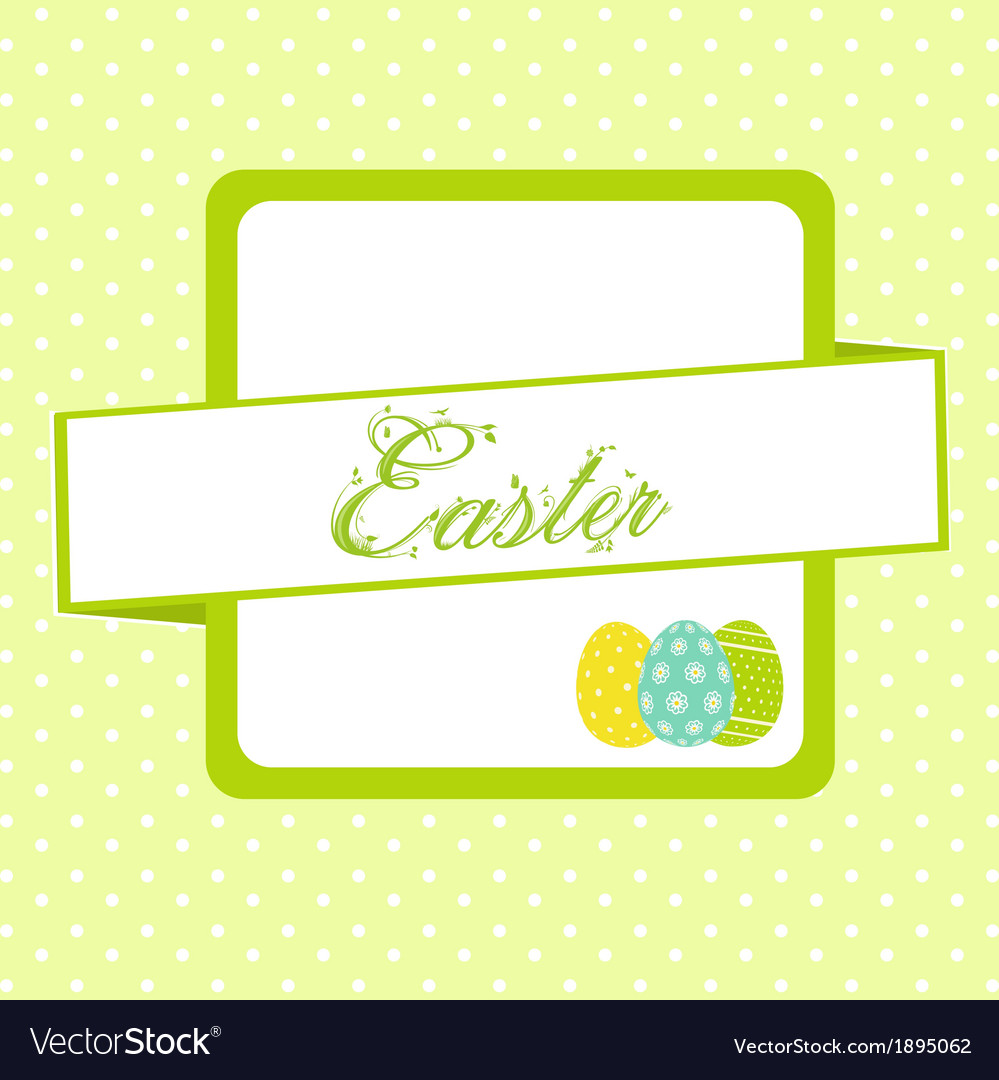 Easter banner background with eggs vector | Price: 1 Credit (USD $1)