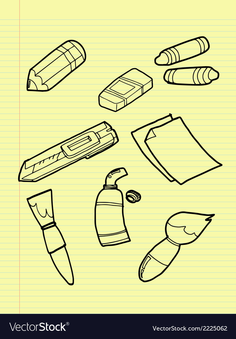 Freehand drawing drawing tools set vector | Price: 1 Credit (USD $1)