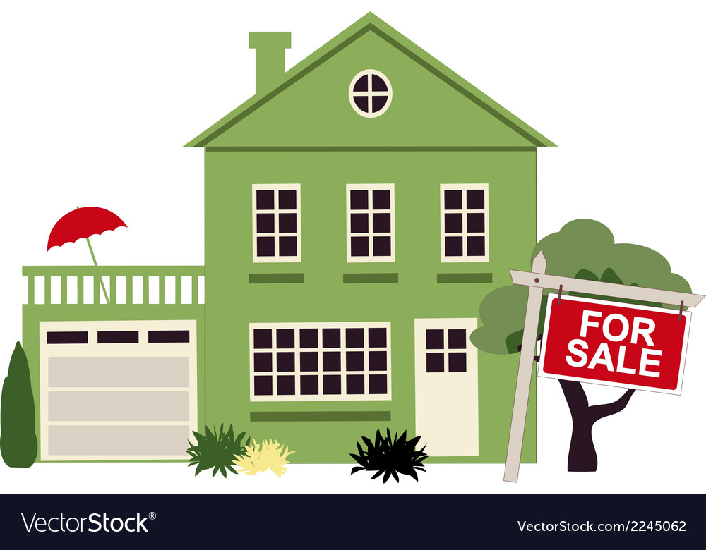 Home for sale vector | Price: 1 Credit (USD $1)