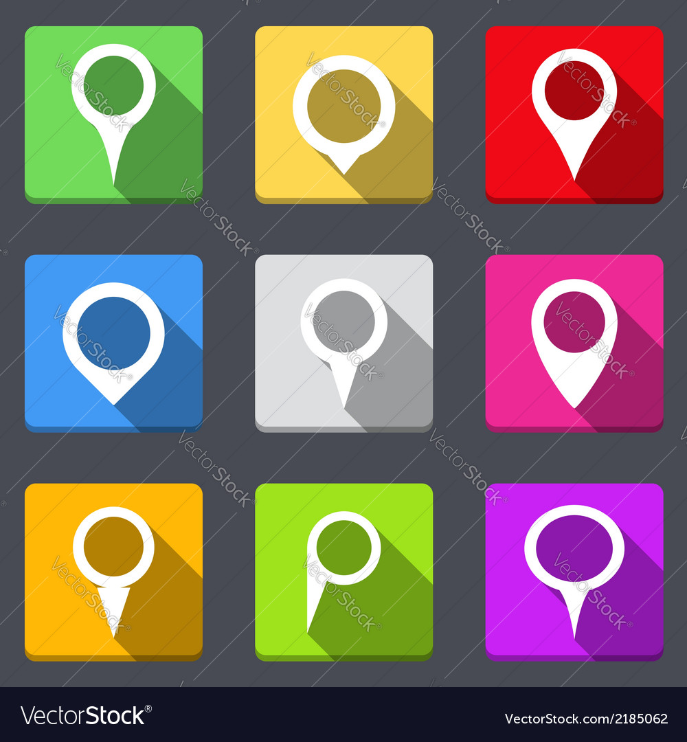 Map pins icons vector | Price: 1 Credit (USD $1)