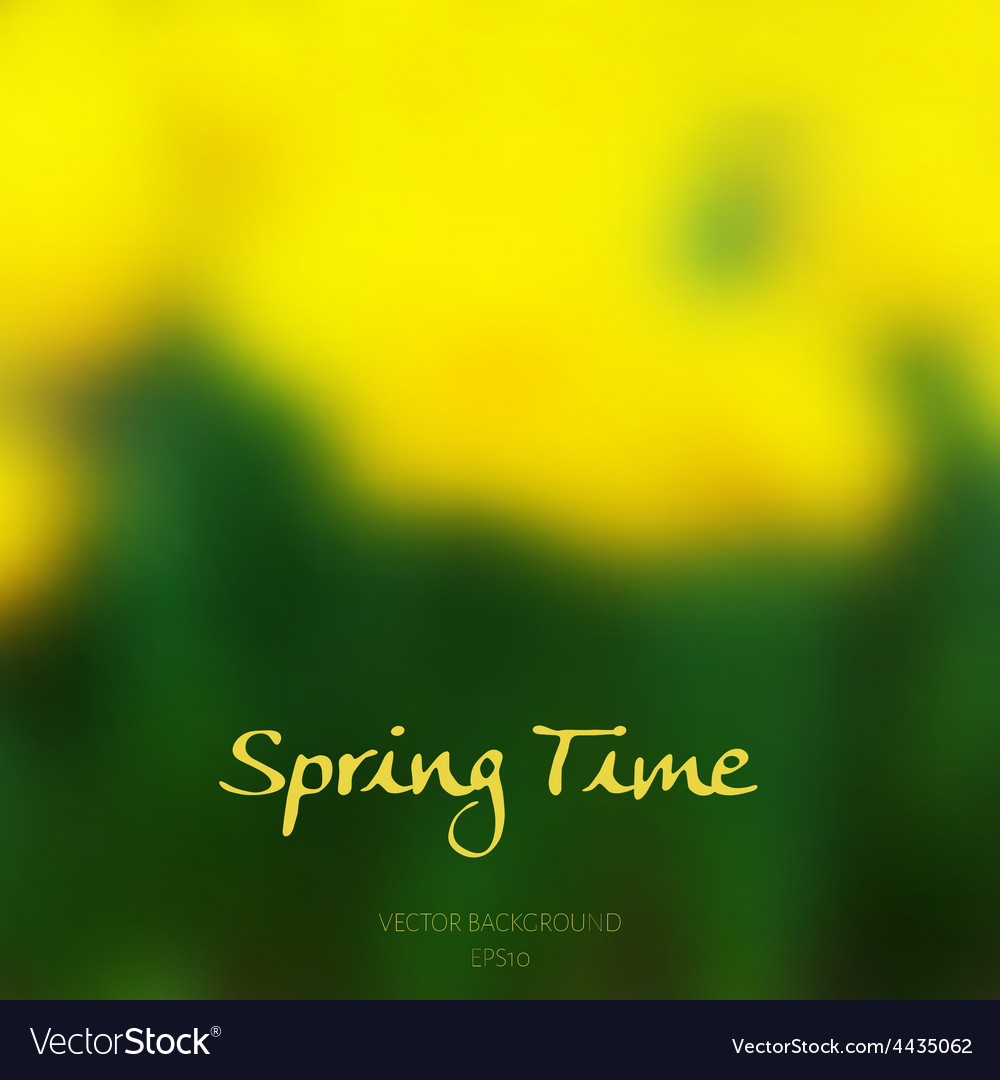 Spring time poster vector | Price: 1 Credit (USD $1)