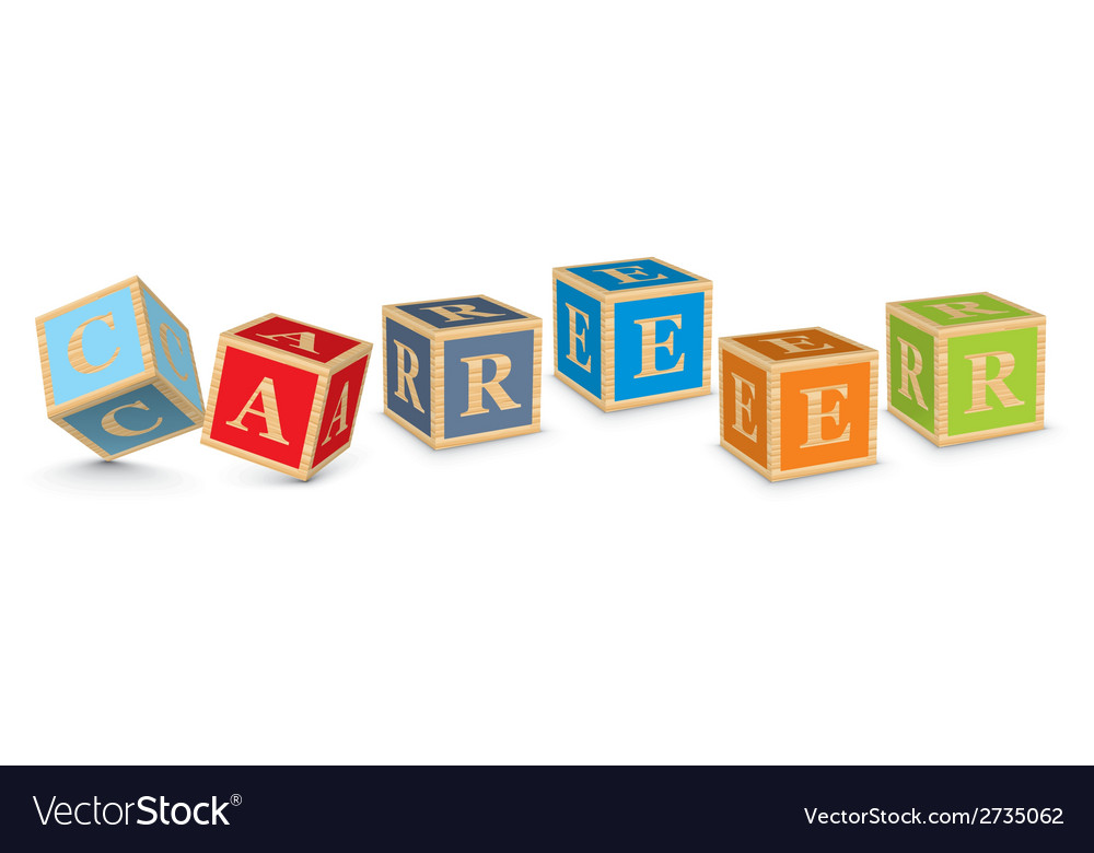 Word career written with alphabet blocks vector   Price: 1 Credit (USD $1)